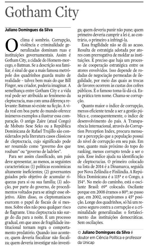 [1] 24 de outubro de 2015, p. 6, seção Opinião